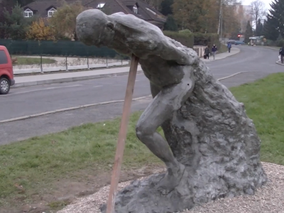 Hlínafest – umisťování soch