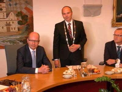 Premiér na návštěvě v Lanškrouně